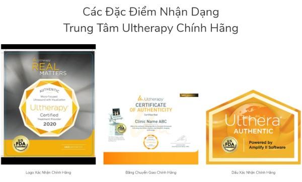 3 đặc điểm nhận dạng trung tâm Ultherapy chính hãng (nguồn: ultherapyvietnam.vn )
