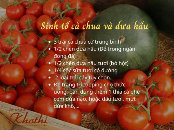Công thức làm sinh tố cà chua và dưa hấu