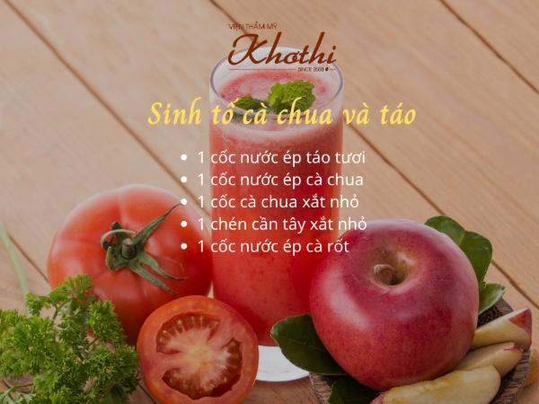 Công thức sinh tố cà chua và táo - Giảm cân bằng cà chua