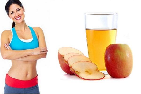 Giấm táo giúp giảm cân lấy lại vòng eo thon gọn