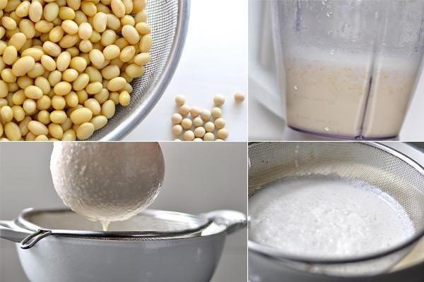 Tự làm sữa đậu nành giảm cân tại nhà.