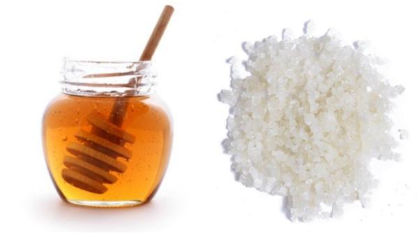 Muối và mật ong giảm mỡ mặt và chăm sóc da hoàn hảo