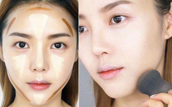 Trang điểm sẽ giúp cho gương mặt của bạn trở nên thon gọn hơn
