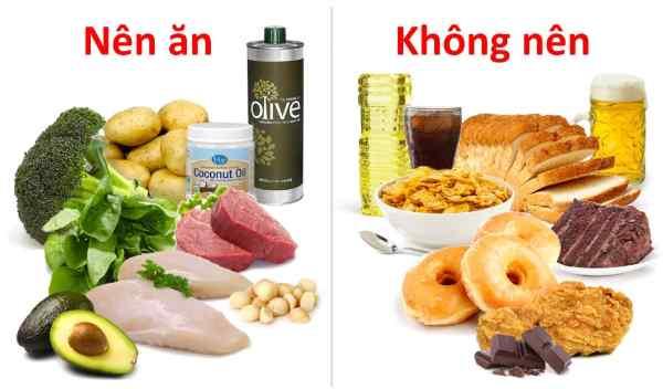 Cần lựa chọn chế độ ăn phù hợp để giảm mỡ mặt
