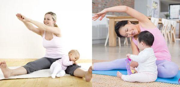 Luyện tập yoga tại nhà cùng bé