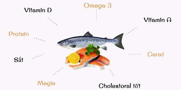 Cá chứa nhiều vitamin, khoáng chất và Omega 3 giúp mẹ giảm cân sau sinh 6 tháng