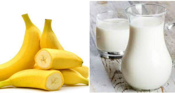 Uống sữa không đường và chuối sẽ giúp bạn có cảm giác no lâu