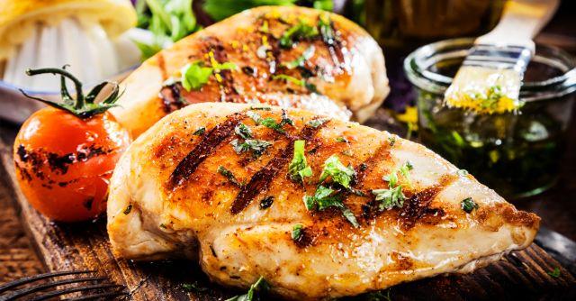 giảm cân bằng ức gà