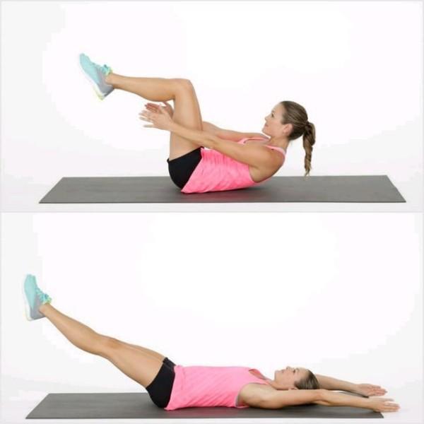 Bài tập nâng chân vỗ tay giảm mỡ bụng