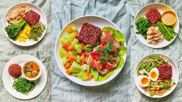 Một số bữa ăn giảm cân với gạo lứt
