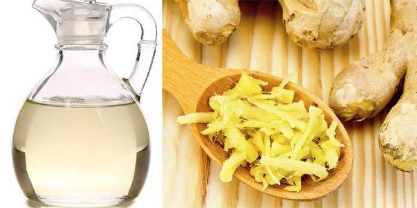 Dùng rượu gừng massage vùng bụng giúp giảm mỡ bụng sau sinh