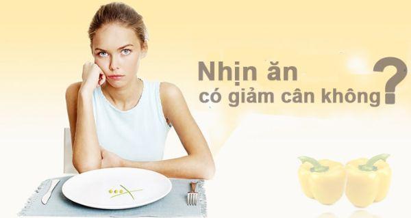 Không nên nhịn ăn để giảm cân.
