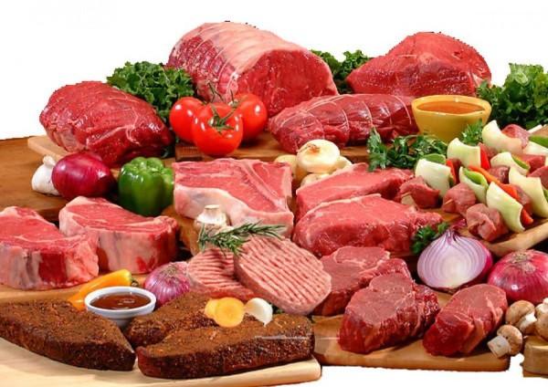 Thịt đỏ là thực phẩm chứa nhiều calo.