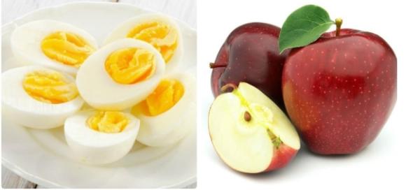 Táo và trứng là hai thực phẩm giảm cân quen thuộc chỉ chị em phụ nữ